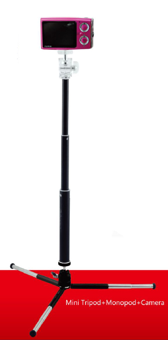 FotoPro  Складной штатив MS-5 для фото, видео, экшен-камер  и мобильных устройств
