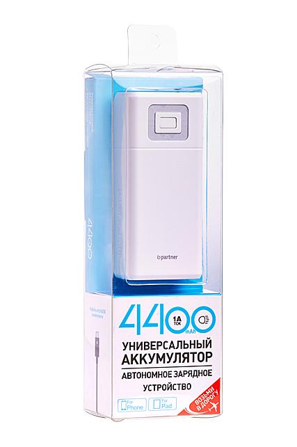 Partner  портативный аккумулятор 4400