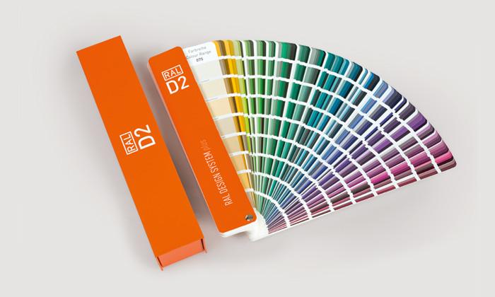 RAL  каталог цветов RAL D2 DESIGN SYSTEM plus