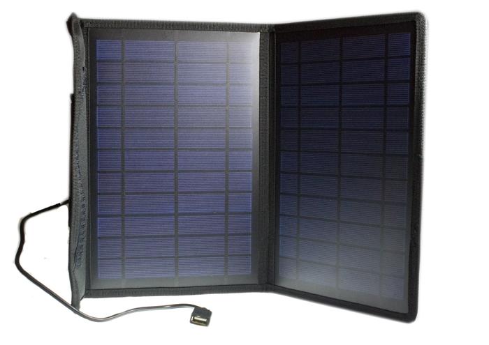 Partner  переносное зарядное устройство на солнечной батарее 10W