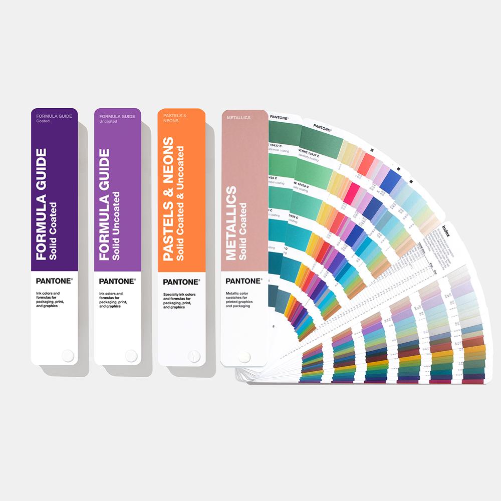 Pantone  комплект цветовых справочник SOLID Guide Set (все смесевые веера в одном комплекте: Formula Guide, Metallic, Premium Metallic и Pastels & Neons)
