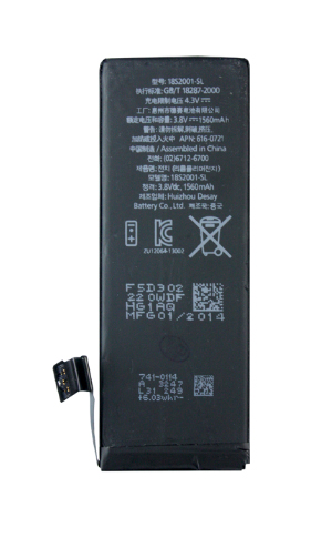 Partner  Аккумулятор для iPHONE 5S 1560mah