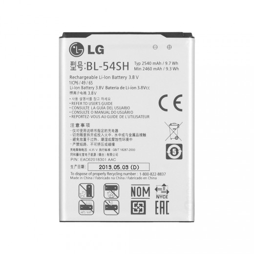 Partner  Аккумулятор для LG F260, F260s Optimus LTE 3, D331 L Bello, D722 G3 S, D722K G3 Beat, D724 G3 S, D725 G3 Vigor, D728 G3 Beat, D729, L80 D373, L90 D405, L90 Dual D410, US780 Optimus F7 LTE - LG BL-54SH 2540mah
